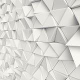 3d白色抽象三角背景 皇族释放例证