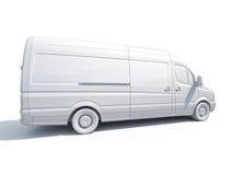 3d白色送货车象 库存图片