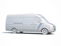 3d白色送货车象 免版税图库摄影