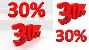 3D百分之三十 库存照片