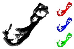 3D百慕大的地图 库存例证