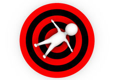 3d目标概念的人 免版税库存图片