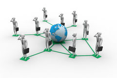 3d真正人的图象全球性连接的 免版税库存照片