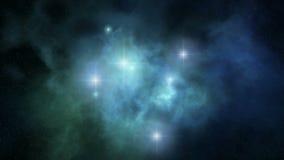 3d空间loopable星云的自转 向量例证