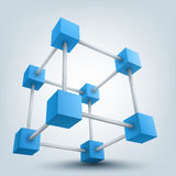 3d立方体 免版税图库摄影