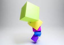 3D立方体 免版税库存图片