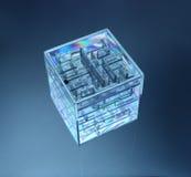 3d立方体v 5 库存照片