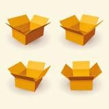 3D箱子传染媒介 库存照片