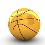 3d篮子球 库存图片