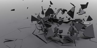 3D粉碎摘要墙纸背景 图库摄影
