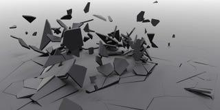 3D粉碎摘要墙纸背景 库存图片