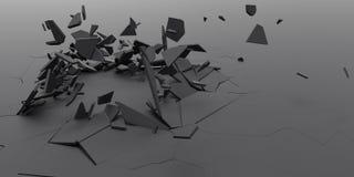 3D粉碎摘要墙纸背景 免版税库存照片