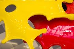 3d红色和黄色油漆 免版税库存照片