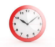 3d红色壁钟- 库存照片