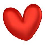 3D红色心脏颜色 库存照片