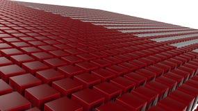 3D红色求背景的立方 库存照片