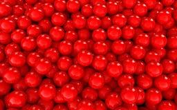 3d红色球形背景 库存例证