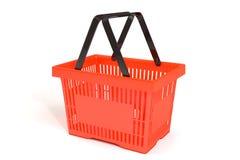 3D红色食物篮子 免版税库存图片