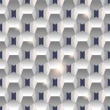 3D纸简单的干净的无缝的几何白色纹理backgroun 免版税库存图片