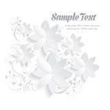 3D纸花卉元素 免版税库存图片