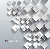 3d纸rhomb传染媒介现代设计 免版税库存图片