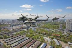 3d组被回报的直升机例证 免版税库存图片