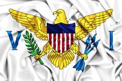 3d维尔京群岛的挥动的旗子 免版税库存照片