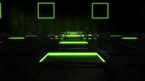 3D绿色科学幻想小说技术室环境介绍商标背景 股票录像