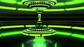 3D绿色科学幻想小说技术设备有闪电介绍商标背景 股票视频