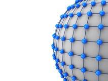 3d网络概念,互相的球连接 库存图片