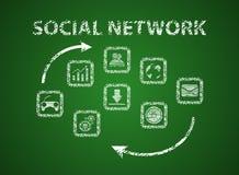 3d网络照片回报了社交 免版税库存图片