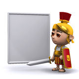 3d罗马战士whiteboard 库存图片
