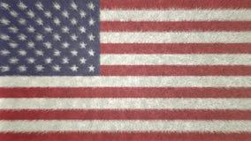 3D美利坚合众国的旗子的图象 免版税库存图片