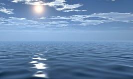 3D美好的海早晨视图 库存图片