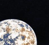3D翻译从空间的世界地球 地球 地球例证空间向量视图 美国航空航天局装备的这个图象的元素 皇族释放例证