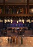 3D翻译休息室酒吧内部 库存照片