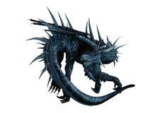 3D翻译在白色的幻想龙 免版税库存图片