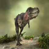 3D翻译恐龙Tarbosaurus 免版税库存照片