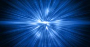 3D翻译,抽象宇宙在黑背景,纹理的爆炸冲击波蓝色能量 股票视频