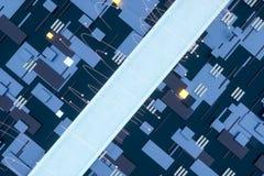3d翻译,立方体上空间,幻想世界 免版税库存图片