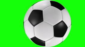 3D耐久的足球辗压的动画横跨屏幕的 库存例证