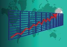3D股票图 库存例证