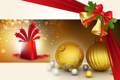 3d背景中看不中用的物品圣诞节组成了摄影实际回报 免版税图库摄影