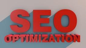 3d背景例证查出的优化seo白色 库存照片