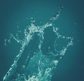 3d背景回报飞溅空白的水 图库摄影
