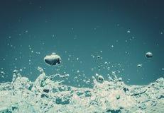 3d背景回报飞溅空白的水 免版税库存照片