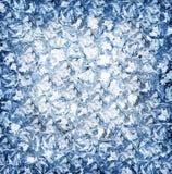 3d背景多维数据集可实现冰的例证 顶视图 库存照片