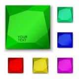 3d背景按钮设计在万维网白色的例证 免版税库存图片