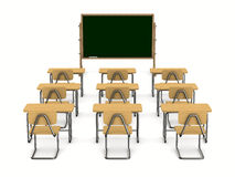 3d背景教室图象查出的白色 库存照片