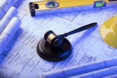 3d背景概念例证查出的法律回报了白色 劳方和建筑法律 安置文本 免版税库存图片